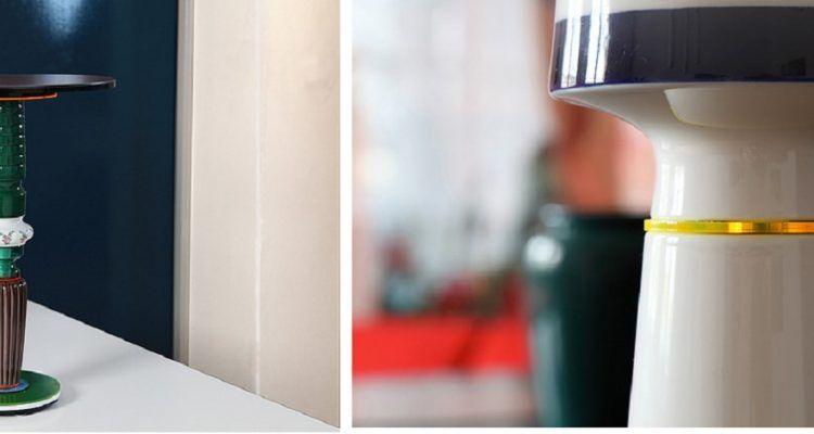 Tavolini da salotto realizzati con pezzi di vasi bigodino - Pezzi di design ...