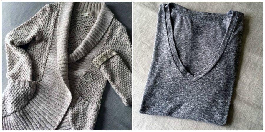 Cardigan e maglietta