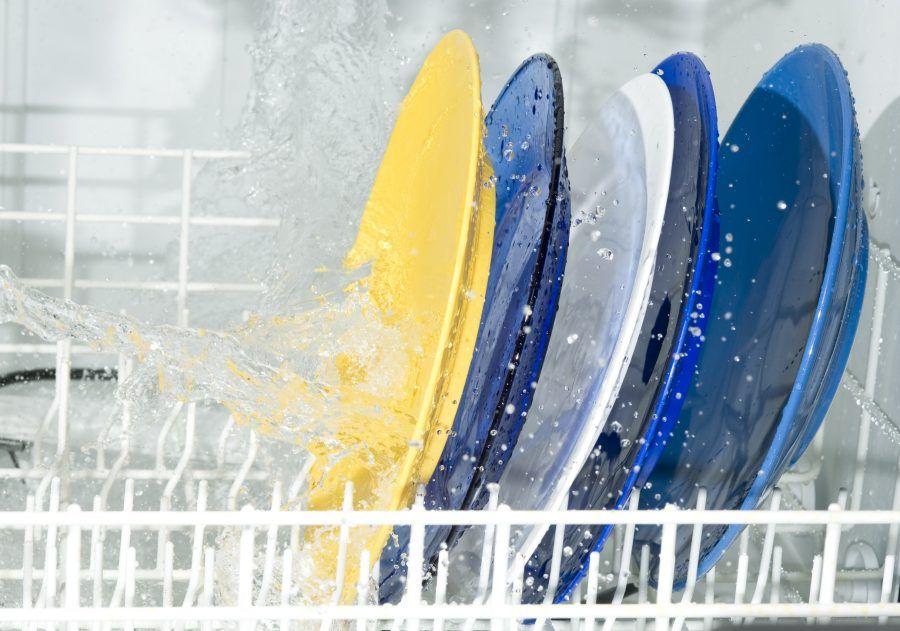 Dish-washing machine and plate