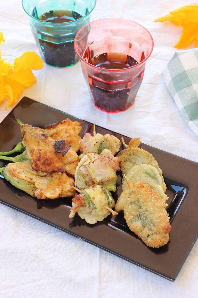 Girelle di zucchine fritte