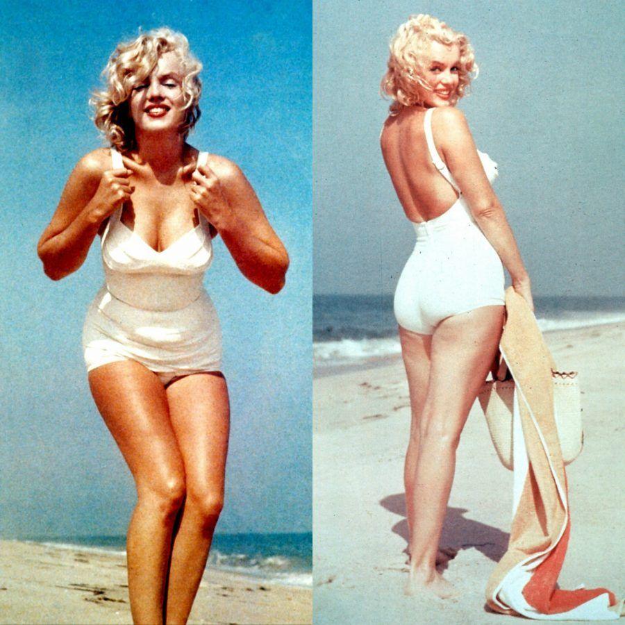 Marilyn costume da bagno bianco
