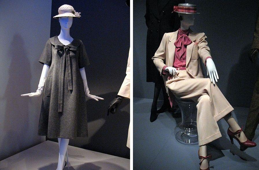 Due delle tante rivoluzioni di YSL nella moda femminile