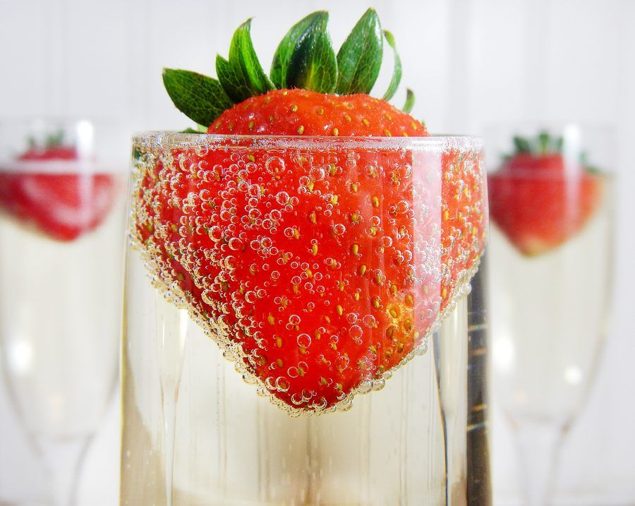 champagne-fragole