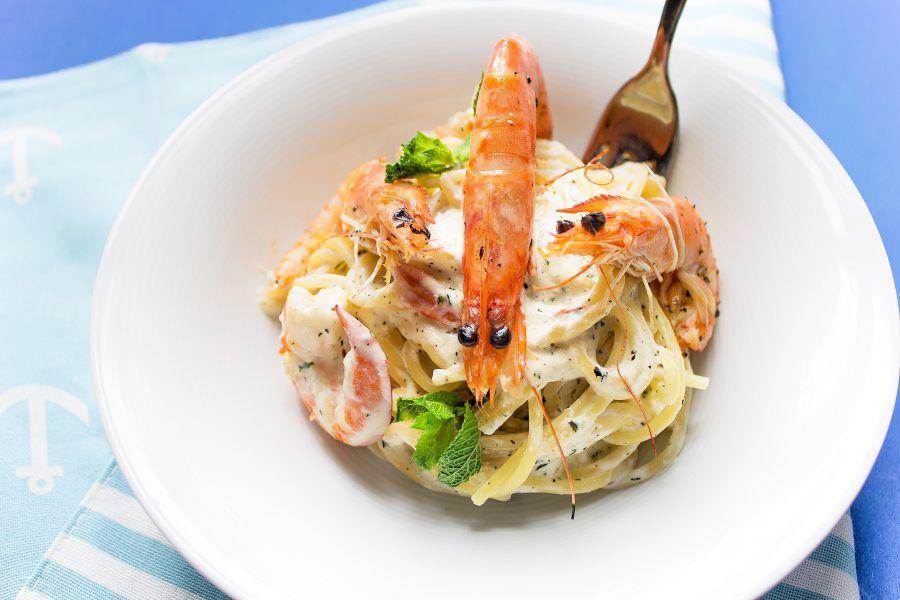 spaghetti-gamberetti-ricotta-menta-5-contemporaneo-food