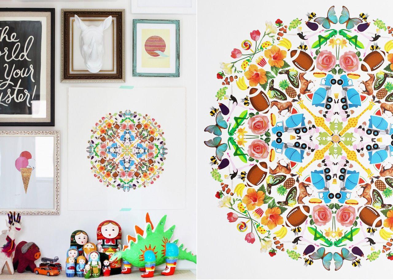 Come creare dei mandala da muro con degli stickers