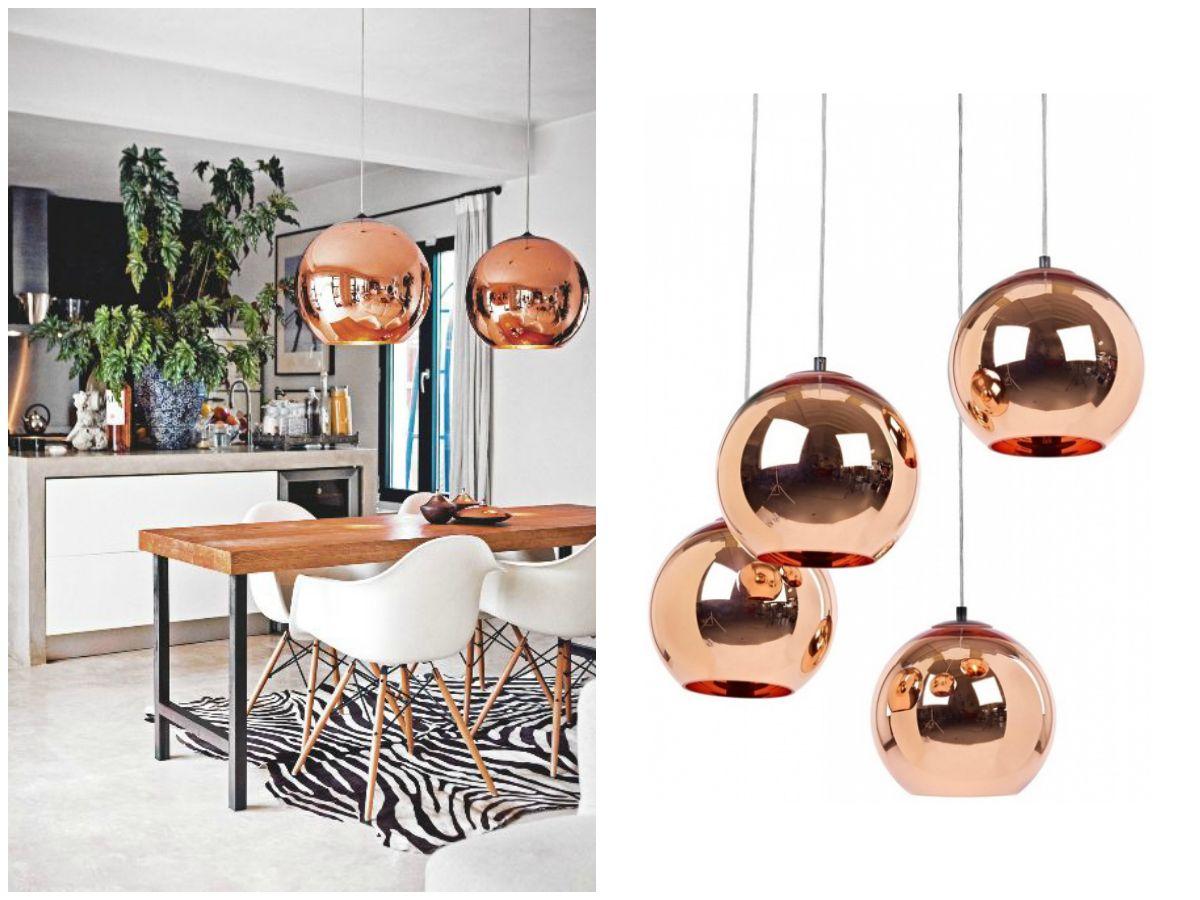 Un tocco di rame gli accessori del momento sono metallici for Repliche lampade design