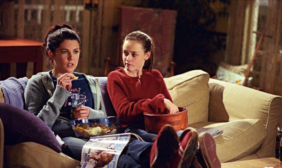 Una Mamma per Amica - Mangiando davanti la tv