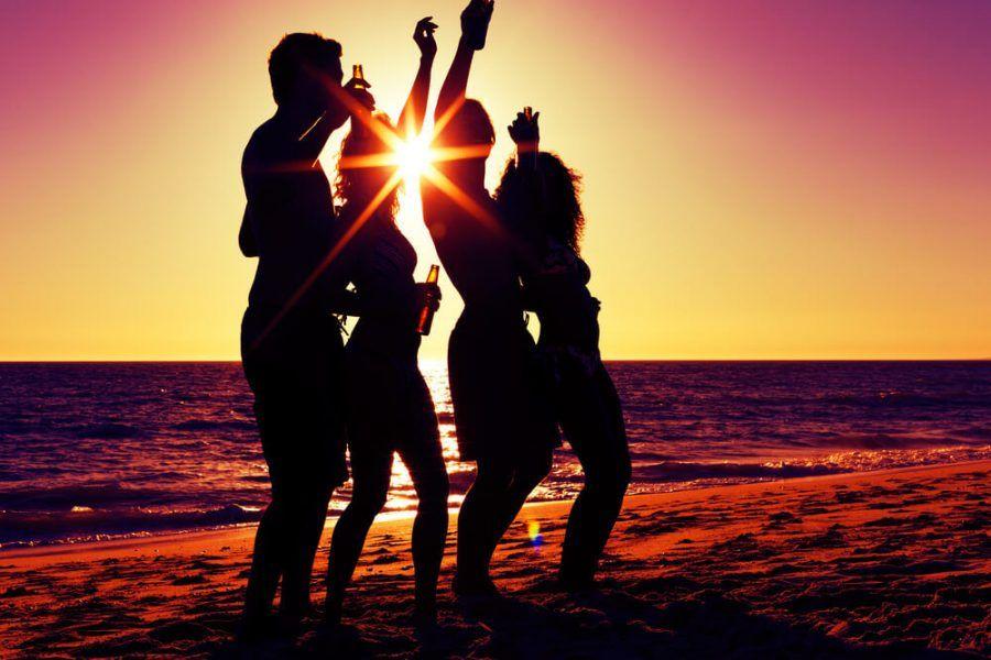 Amici in spiaggia