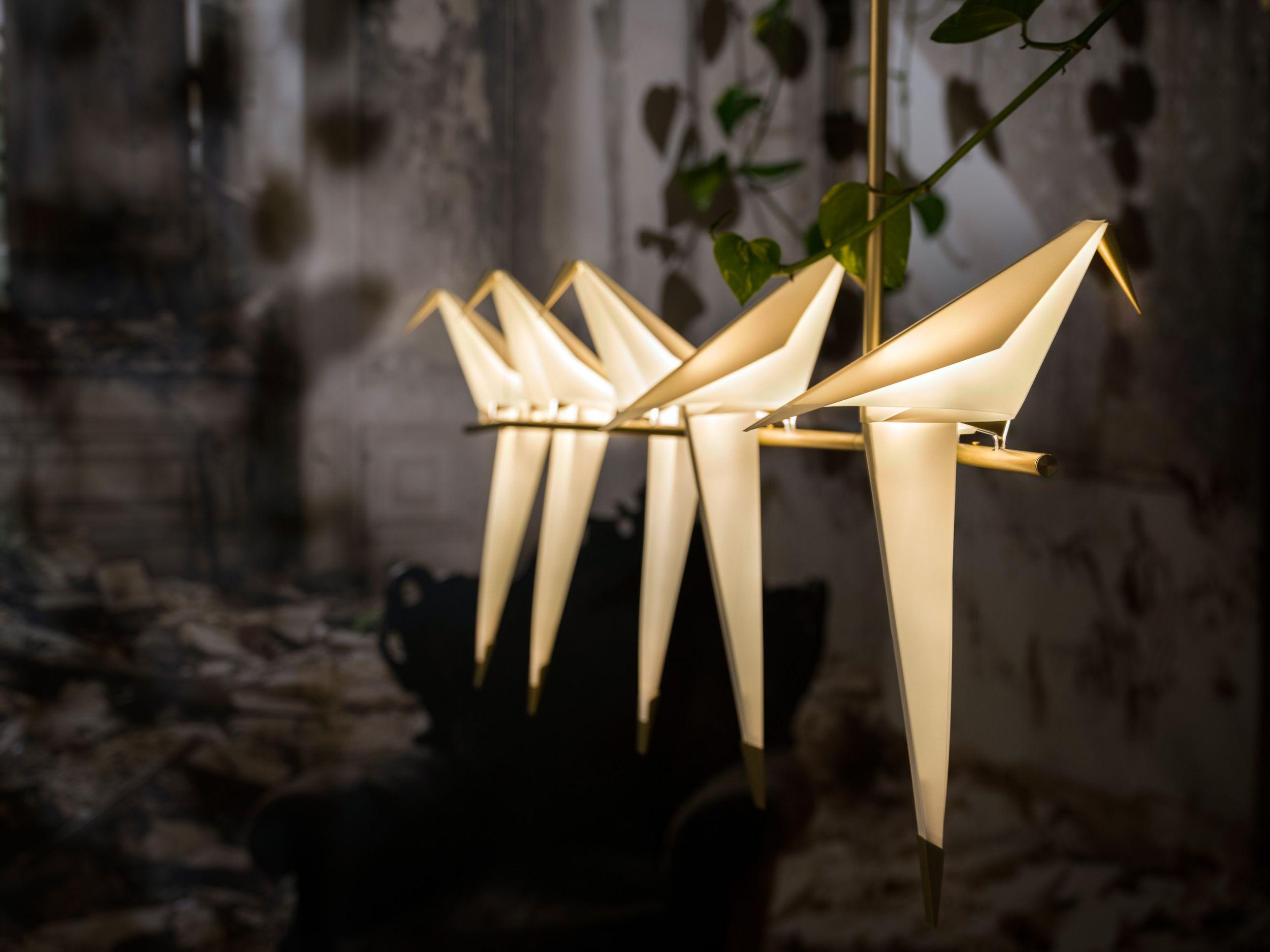Le lampade di design a forma di uccellino