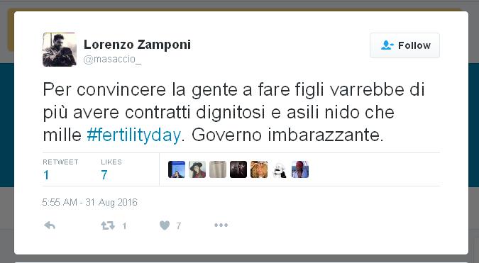 Tweet #fertilityday