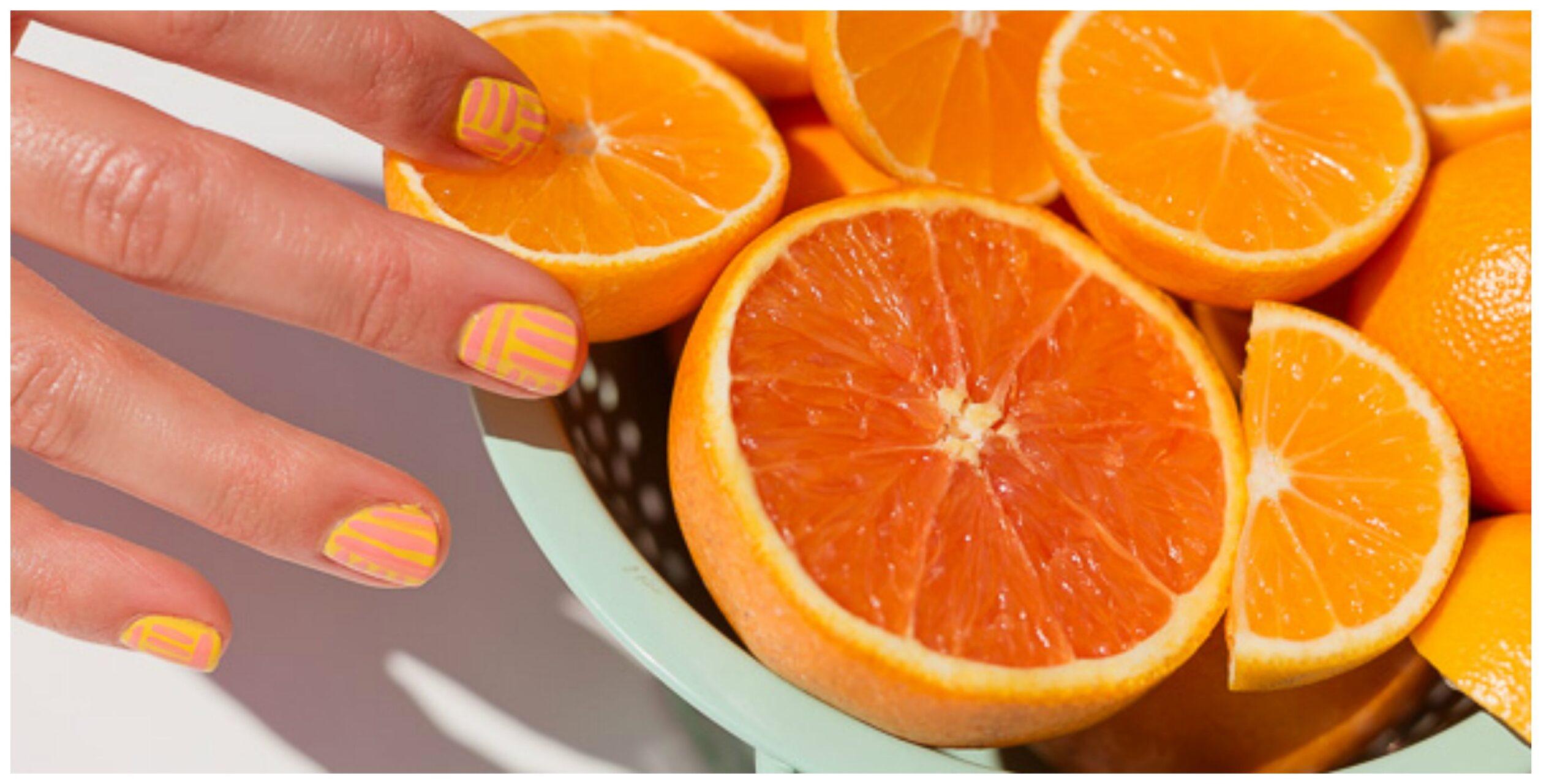 Come stendere lo smalto creando i colori dell'arancia