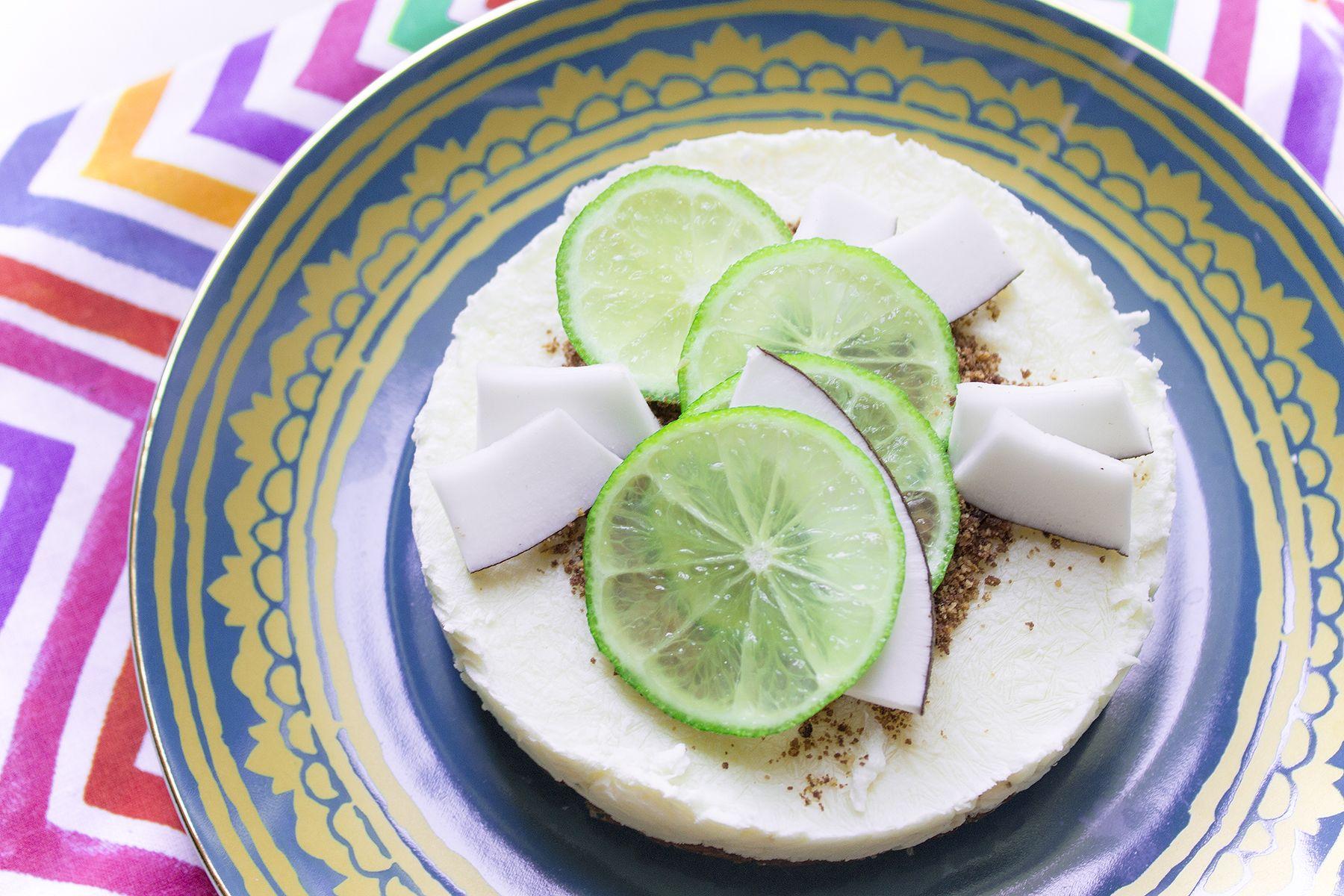 Cheesecake senza cottura al lime e cocco