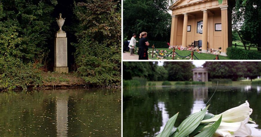 La tomba di Lady Diana