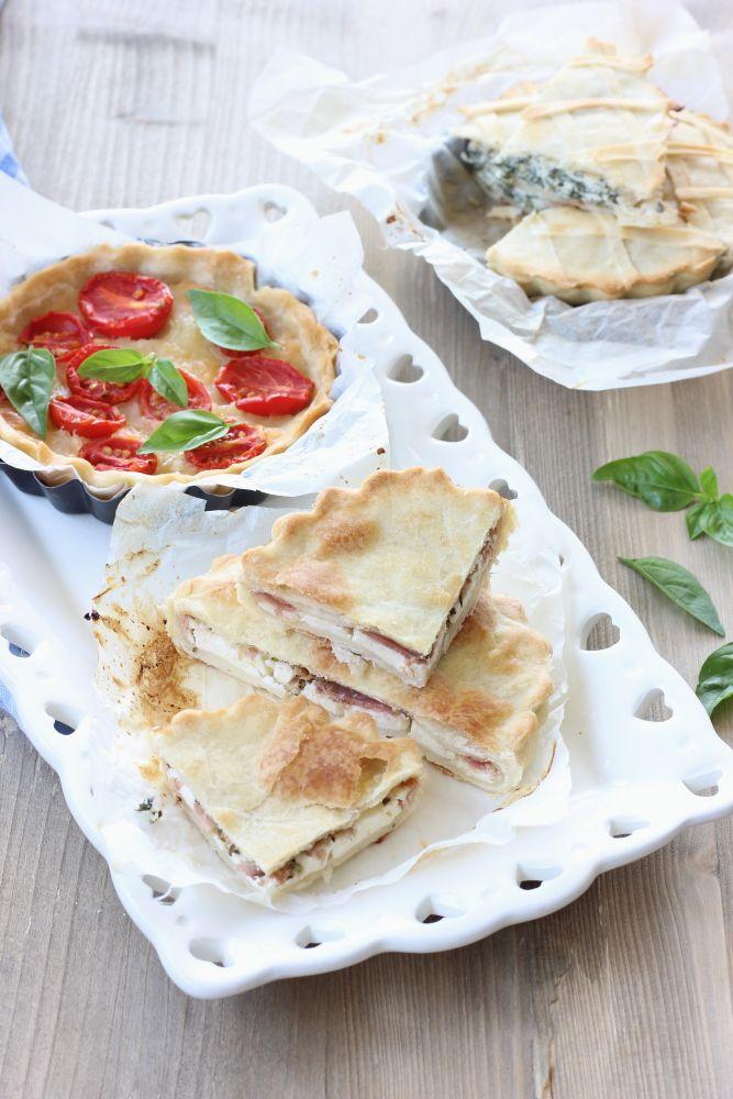 Torta salata philadelphia e prosciutto cotto