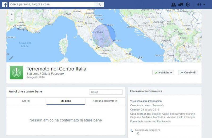 Safety Check di Facebook