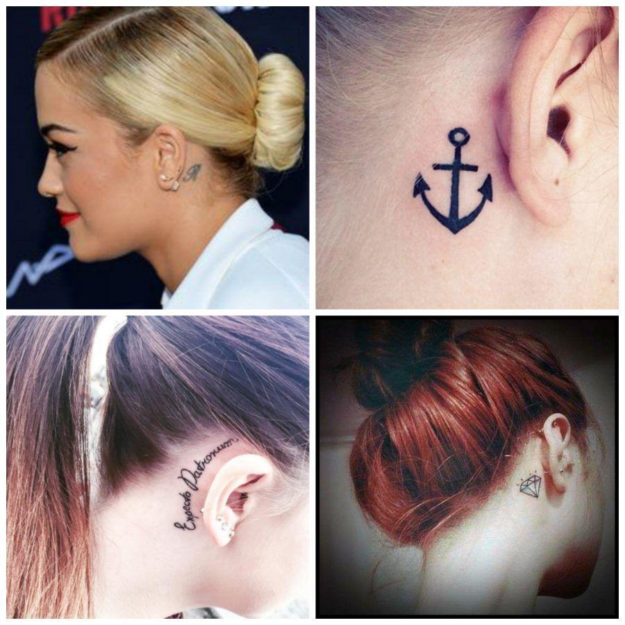 tatuaggi nascosti dietro l'orecchio