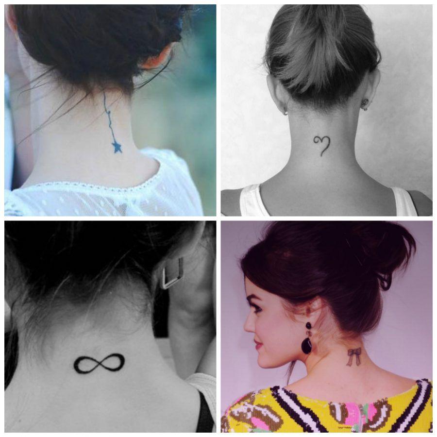piccoli tatuaggi sulla nuca