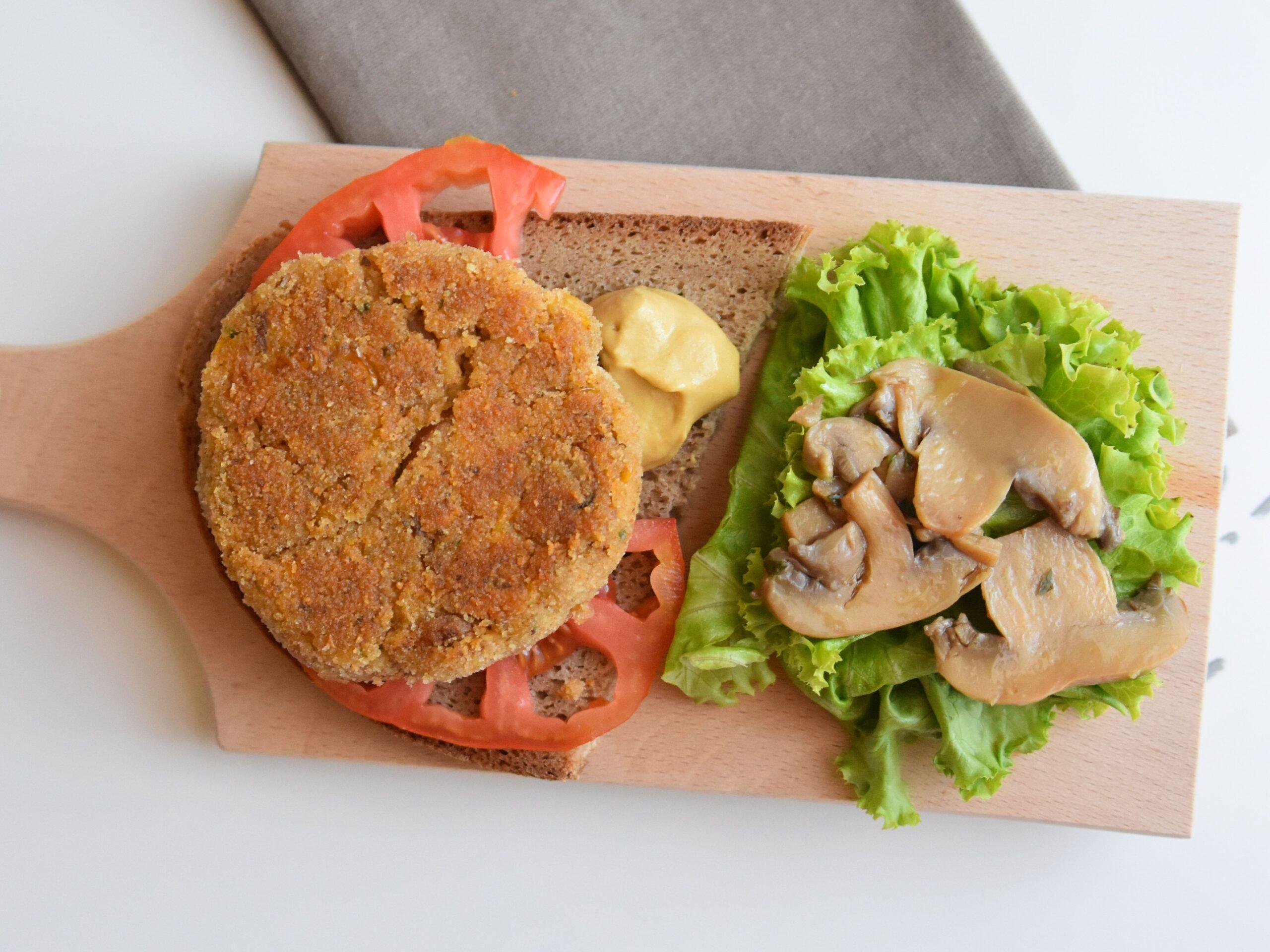 Hamburger di funghi