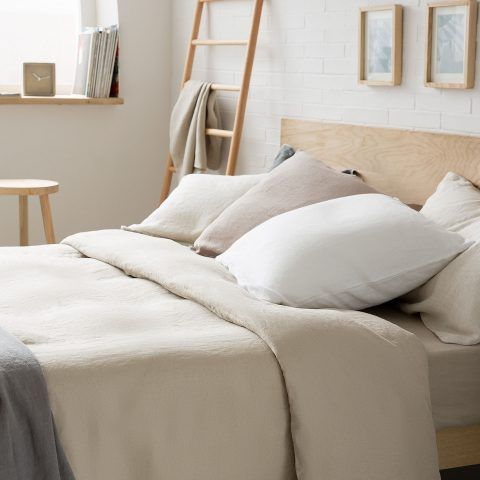 COPRIPIUMINO LINO LAVATO -  per un letto 150/160cm / 240 x 220 cm prezzo 89,99 euro