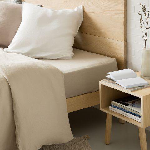 LENZUOLO DI SOTTO IN LINO LAVATO - per un letto 160cm / 160 x 200 x 28 cm prezzo 45,99 euro