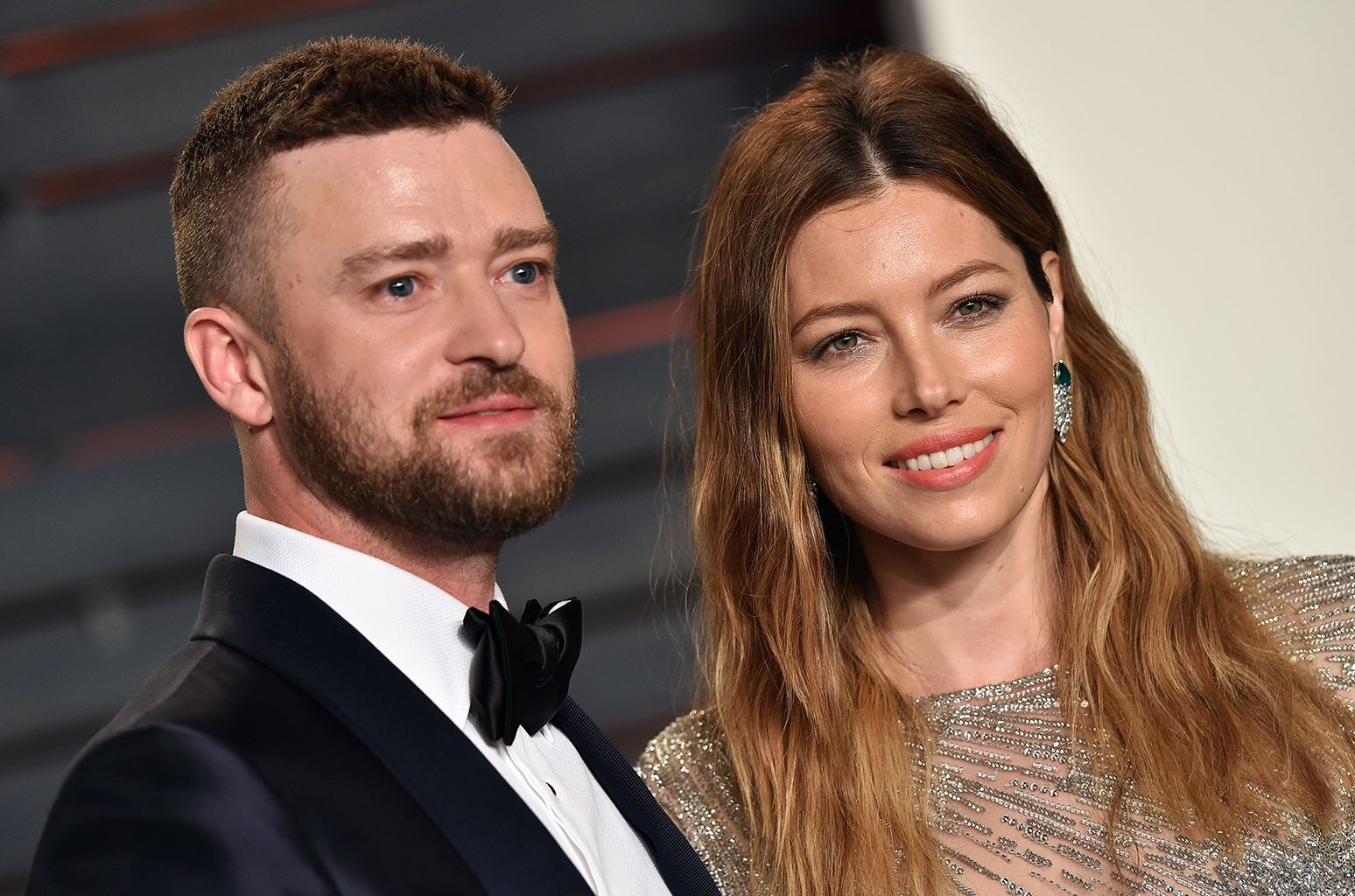 BEVERLY HILLS, CA - FEBRUARY 28: Recording artist Justin Timberlake and actress Jessica Biel arrive at the 2016 Vanity Fair Oscar Party Hosted By Graydon Carter at Wallis Annenberg Center for the Performing Arts on February 28, 2016 in Beverly Hills, California. (Photo by Axelle/Bauer-Griffin/FilmMagic)