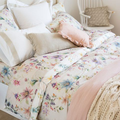 COPRIPIUMINO STAMPA FLOREALE MULTICOLORE - per un letto 150/160cm / 240 x 220 cm, prezzo 69,99 euro