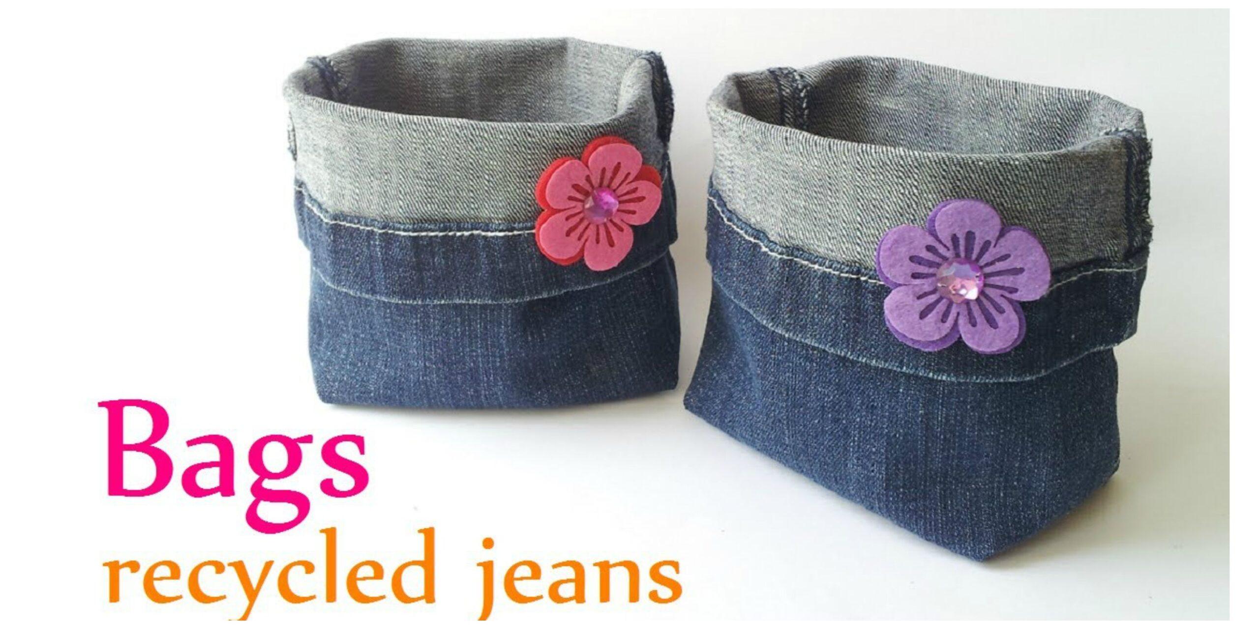 Come fare cestini portapane di jeans