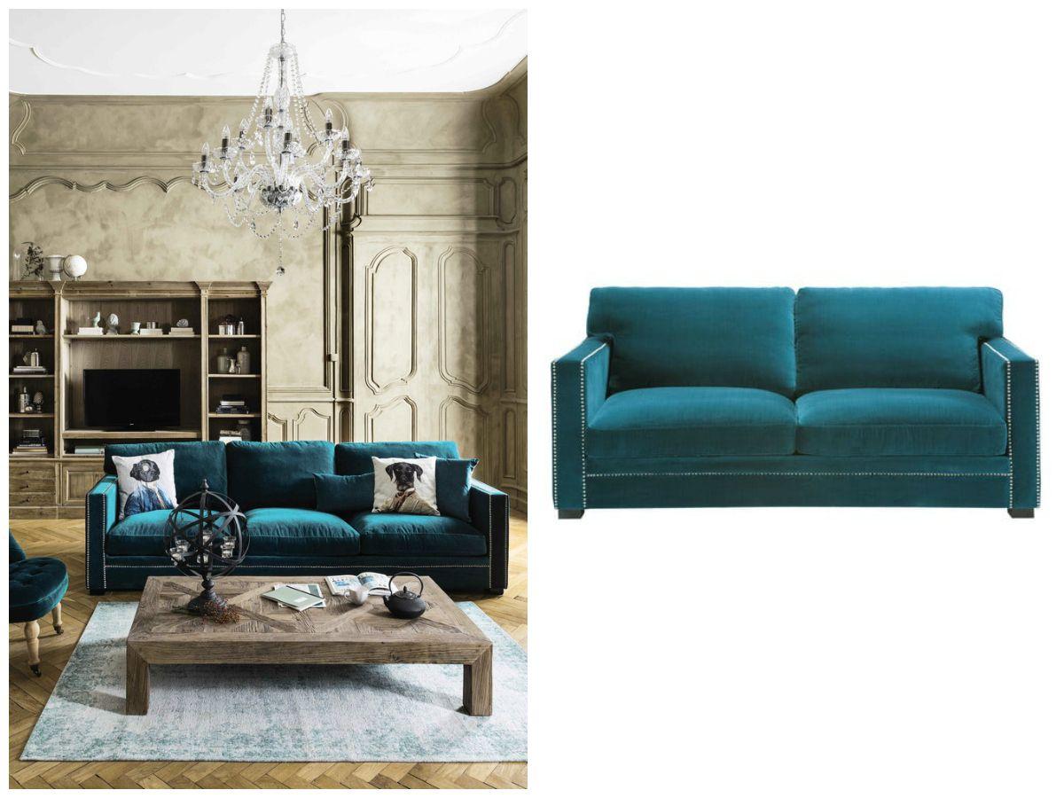The velvet touch bigodino for Divano velluto blu