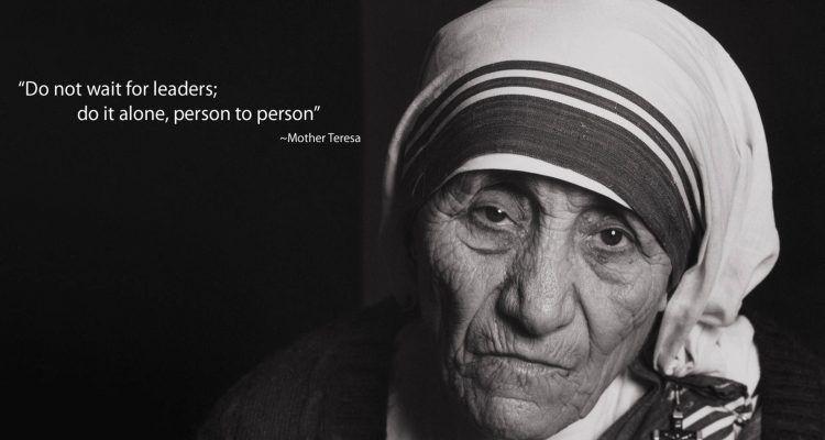 Ben noto Le 10 frasi più significative di Madre Teresa di Calcutta | Bigodino KV24