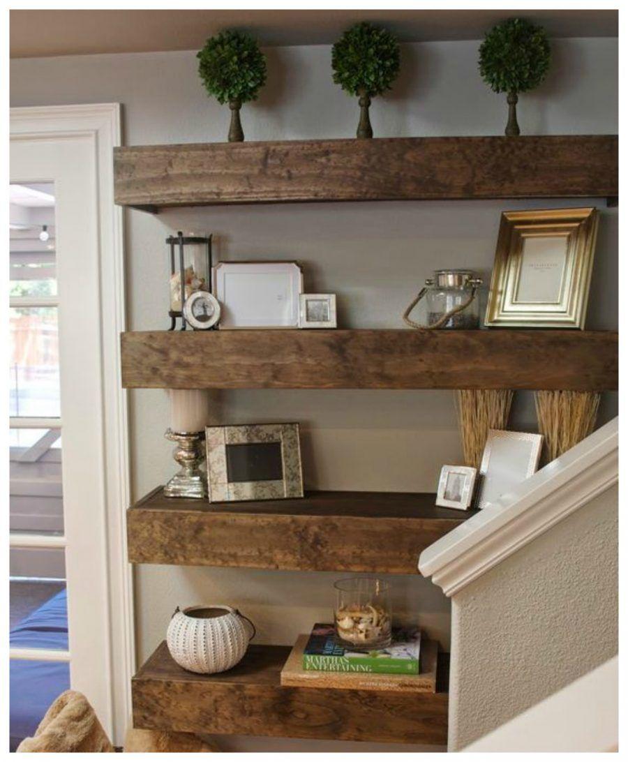 decorare le pareti con le mensole bigodino On mensole legno