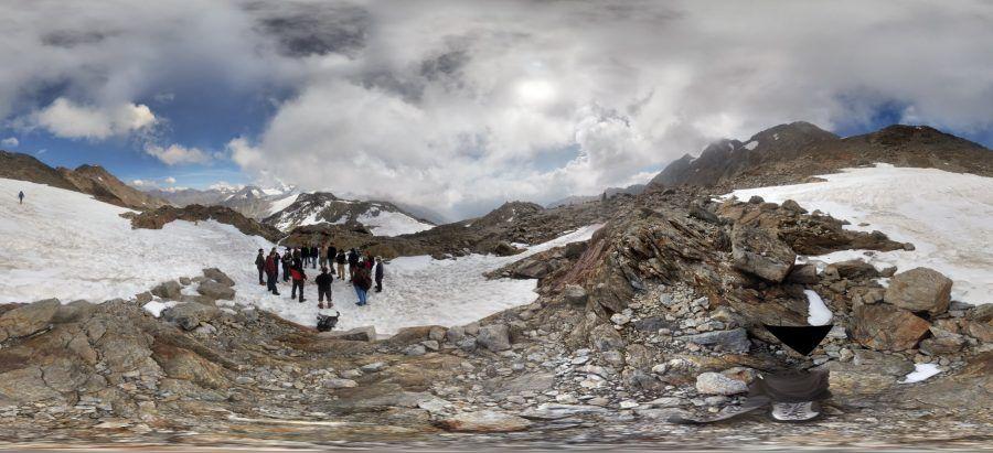 Sui ghiacciai della val senales