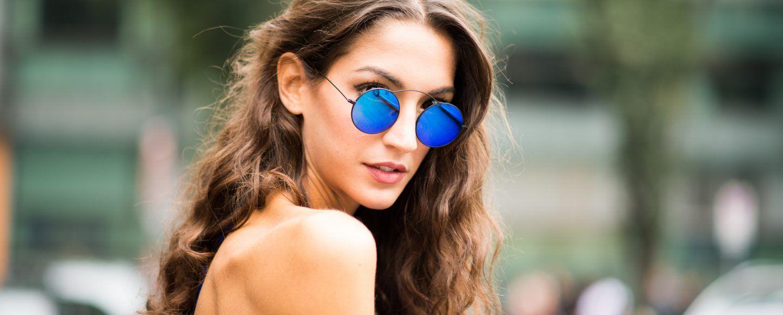 Occhiali a specchio l accessorio ideale per ogni tuo look bigodino - Occhiali per truccarsi allo specchio ...