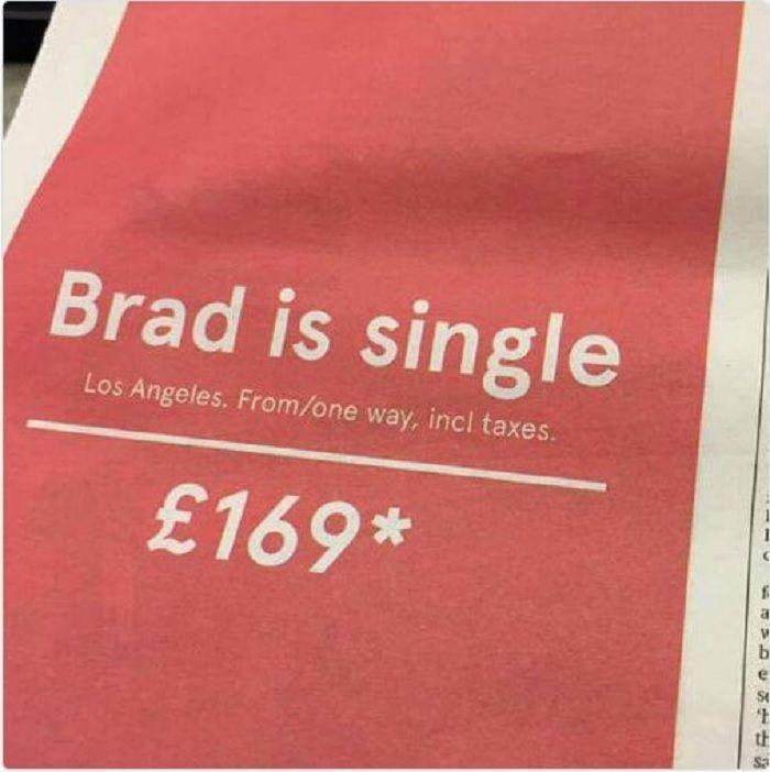 Brad è single... Yeah!