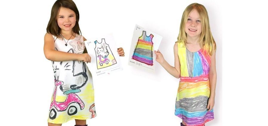 I bambini sono i designer dei loro abiti
