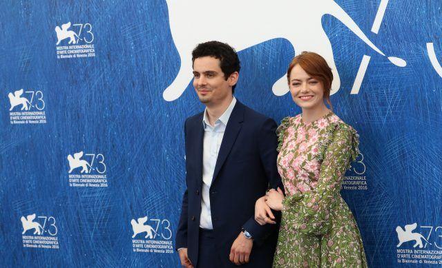 Emma Stone indossava un bellissimo abito floreale.