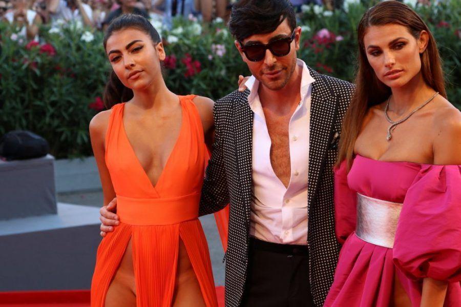 Dayane Mello e Giulia Salemi con Matteo Manzini Ph Credit Movieplayer.it