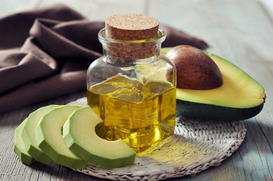 maschera avocado e olio