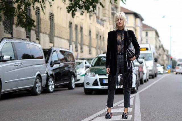 Street Style da Milano Moda Donna primavera-estate 2017, primo giorno: Linda Tol