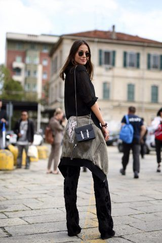 Street Style da Milano Moda Donna primavera-estate 2017, primo giorno: Kasia Boriwicz