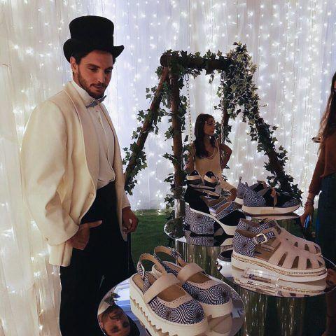 Milano Moda Donna, presentazione della collezione di scarpe di Alberto Guardiani per la primavera-estate 2017