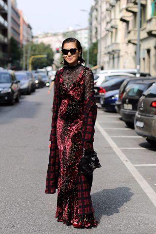 Street style da Milano Moda Donna, quarto giorno: velluto