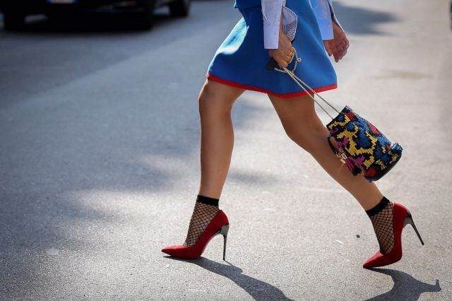 Street style da Milano Moda Donna, quarto giorno: calzini e scarpe...