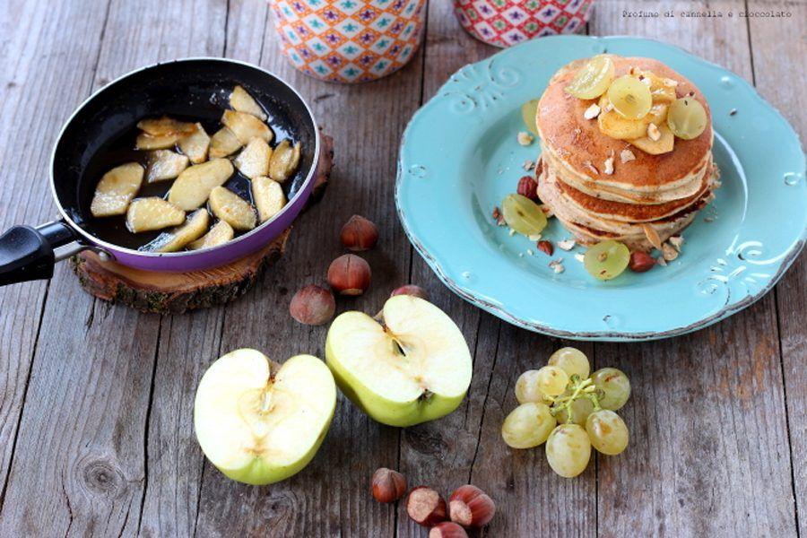 pancake alle nocciole con farina di farro