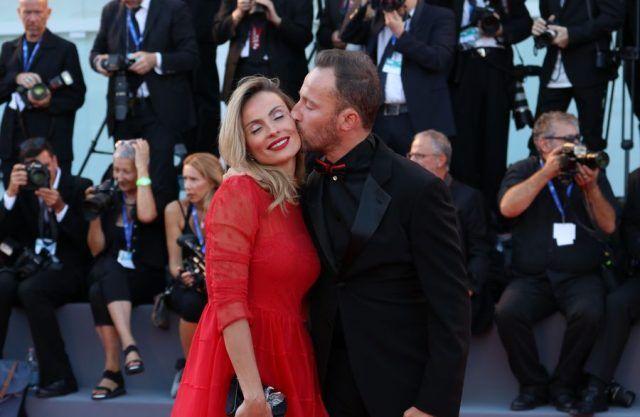 Francesco Facchinetti con la moglie