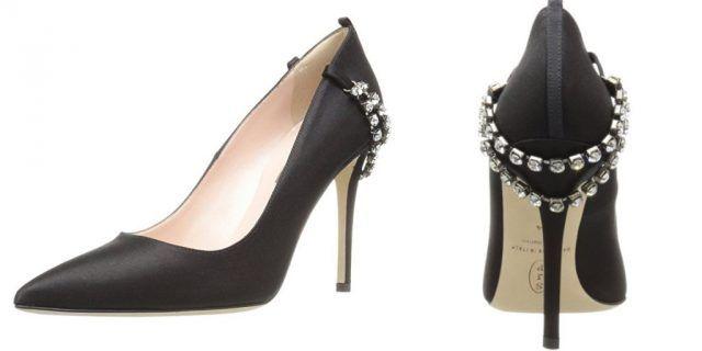 Le scarpe di Sarah Jessica Parker, in vendita su Amazon: decollete nere con dettagli sparkling