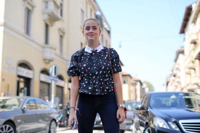 Milano Fashion Week primavera-estate 2017, street style: Valentina Ferragni