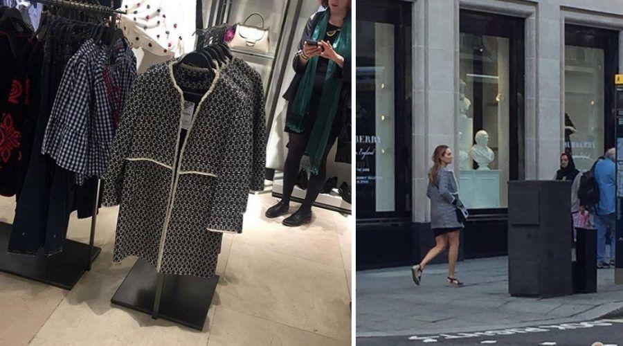 A Londra il cappotto di Zara è un cult