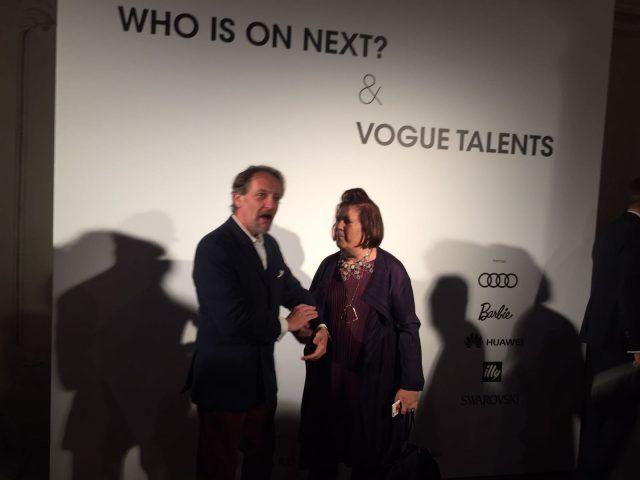 Designer emergenti dall'Italia e dal mondo all'evento Who is on Next? e Vogue Talents: Suzy Menkes