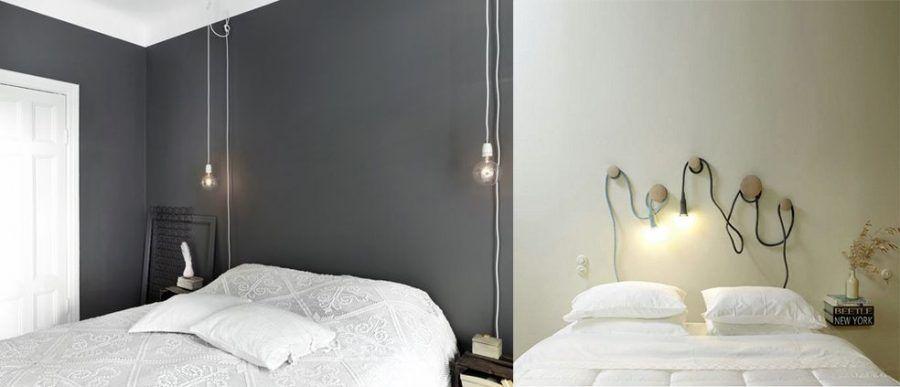 Idee creative per testiere del letto fai da te bigodino - Letto senza testiera ...
