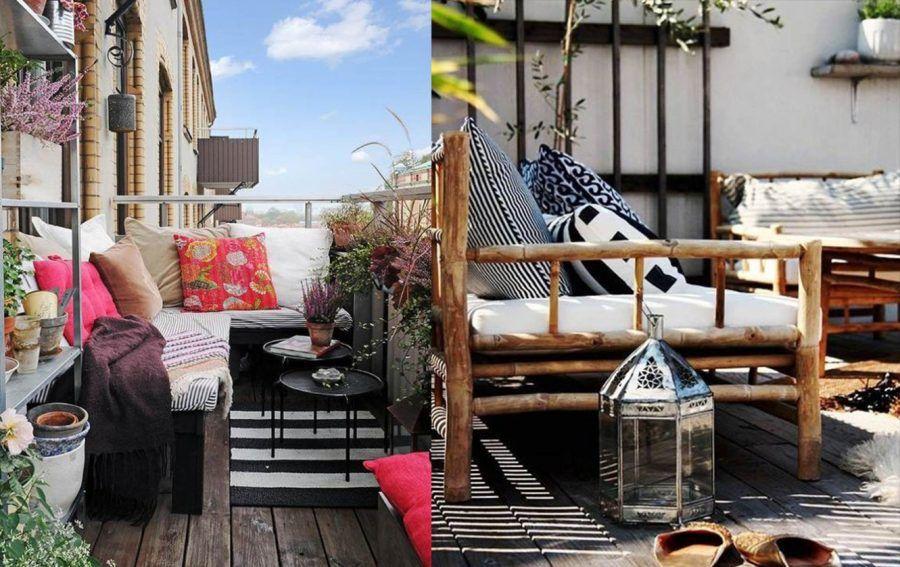 Arredare un balcone in autunno